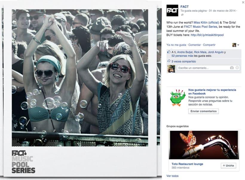 FACT WORLDWIDE - Gestión de sus páginas de Facebook: sorteos, posts, respuestas, campañas... 11