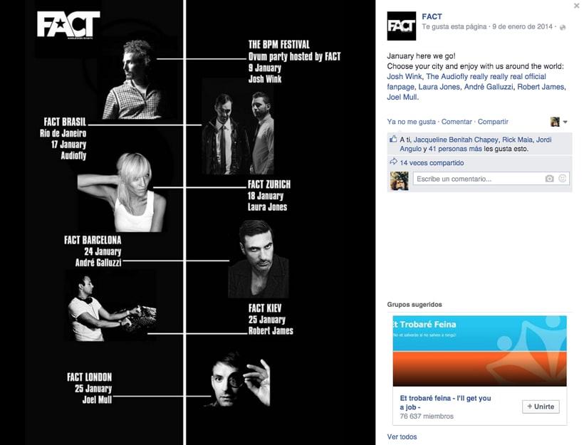 FACT WORLDWIDE - Gestión de sus páginas de Facebook: sorteos, posts, respuestas, campañas... 16