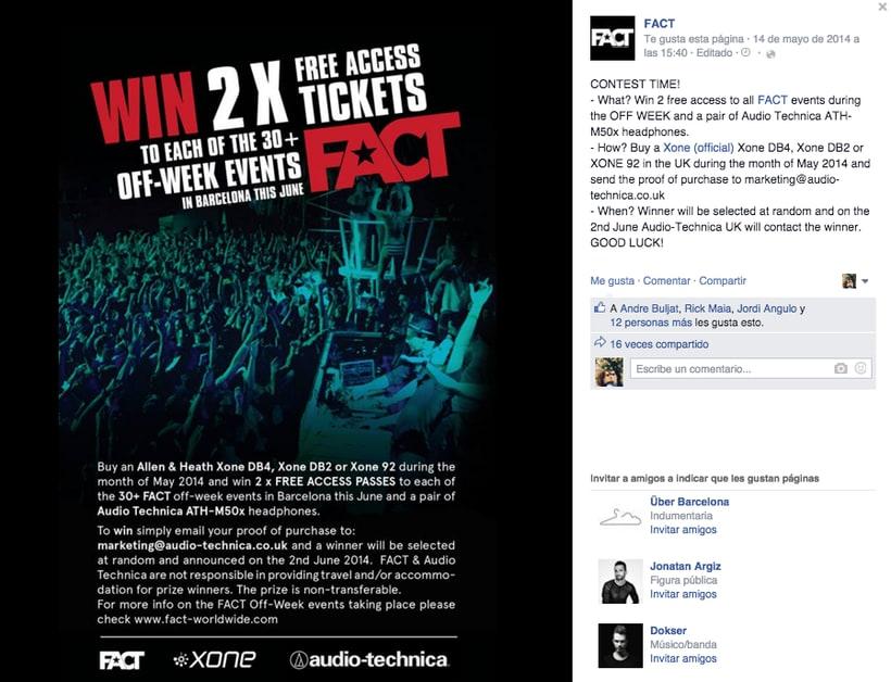FACT WORLDWIDE - Gestión de sus páginas de Facebook: sorteos, posts, respuestas, campañas... 22
