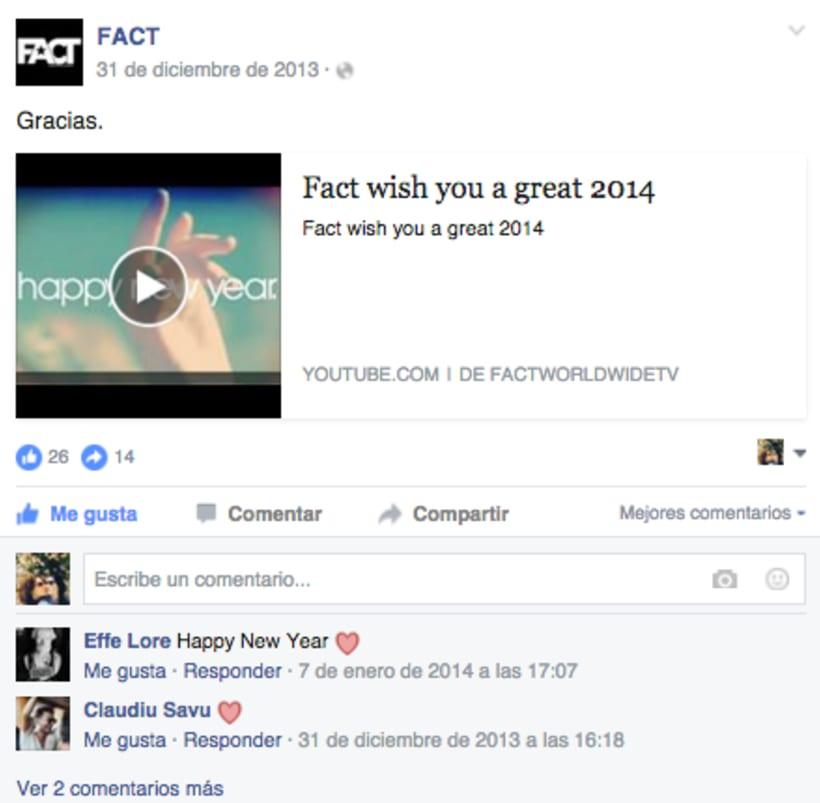 FACT WORLDWIDE - Gestión de sus páginas de Facebook: sorteos, posts, respuestas, campañas... 23