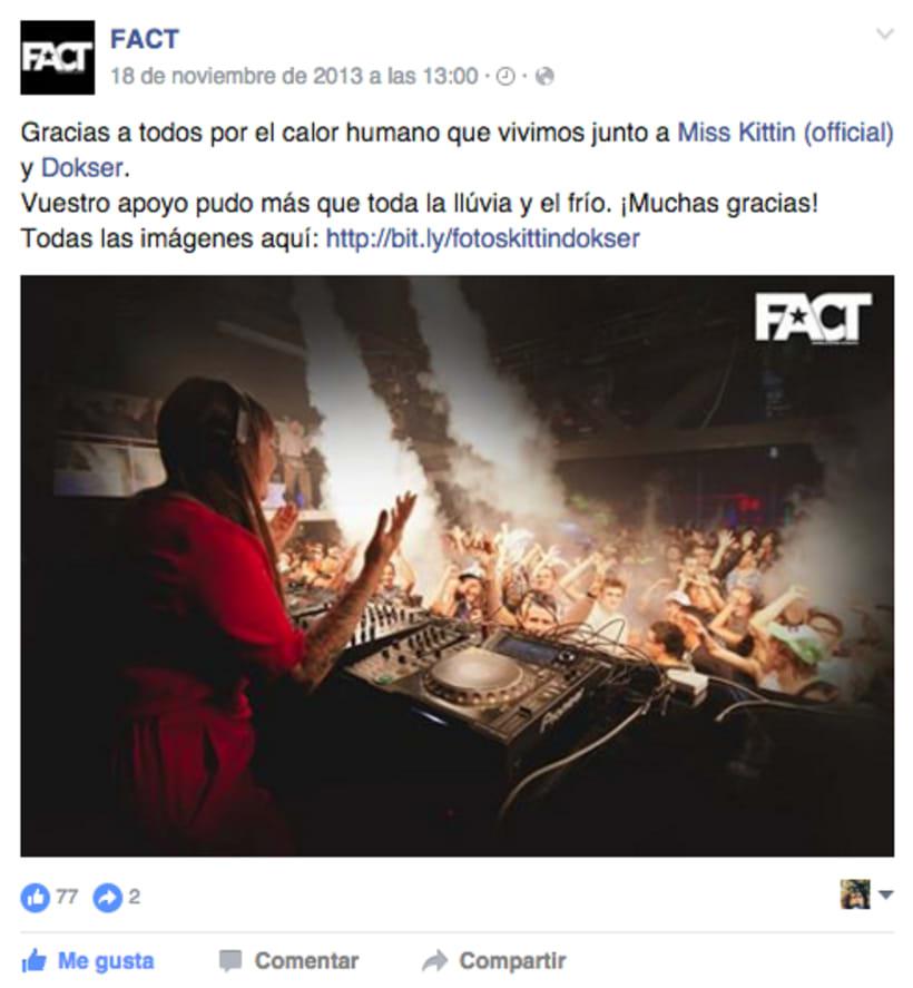 FACT WORLDWIDE - Gestión de sus páginas de Facebook: sorteos, posts, respuestas, campañas... 24