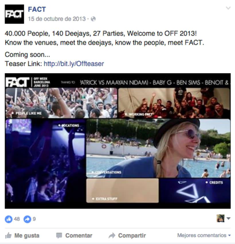 FACT WORLDWIDE - Gestión de sus páginas de Facebook: sorteos, posts, respuestas, campañas... 25