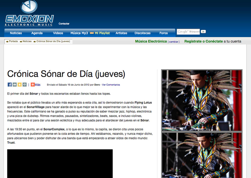 EMOXION: redactora jefa de la web de música electrónica -1