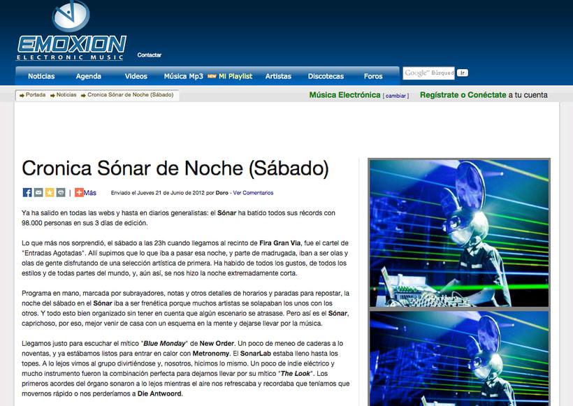 EMOXION: redactora jefa de la web de música electrónica 0