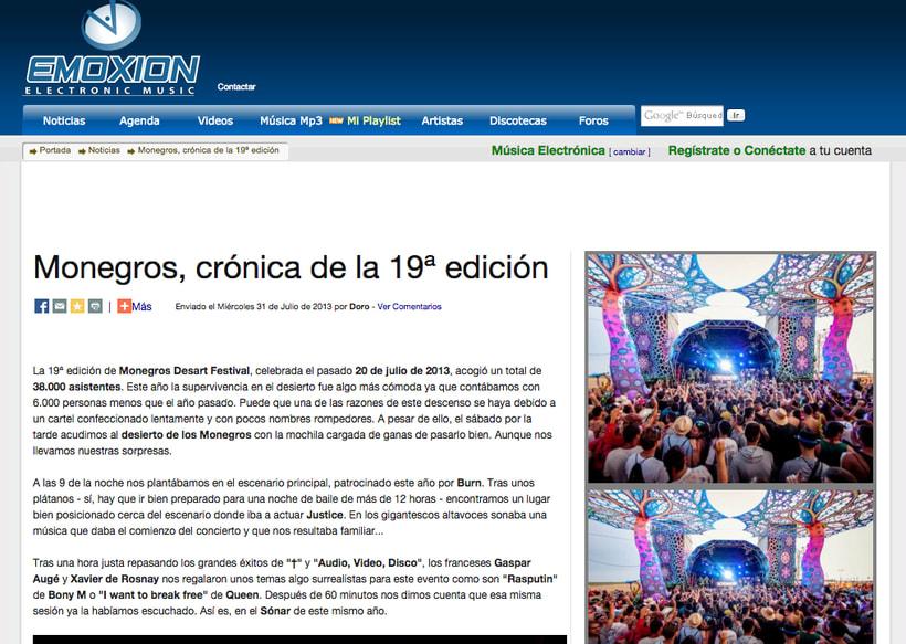 EMOXION: redactora jefa de la web de música electrónica 2