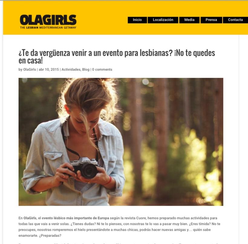 OlaGirls: comunicación, redes sociales y diseño 2