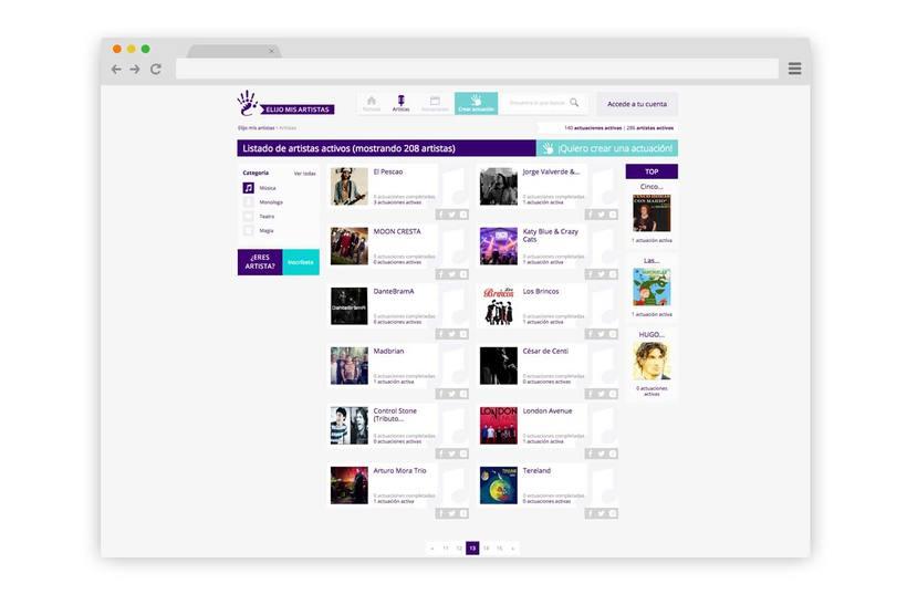 Web Elijo Mis Artistas 2