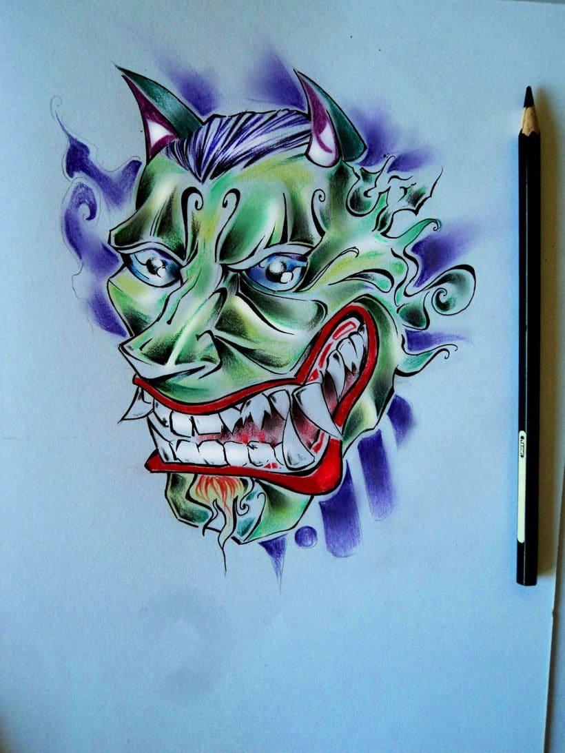 Máscara lápices de colores -1
