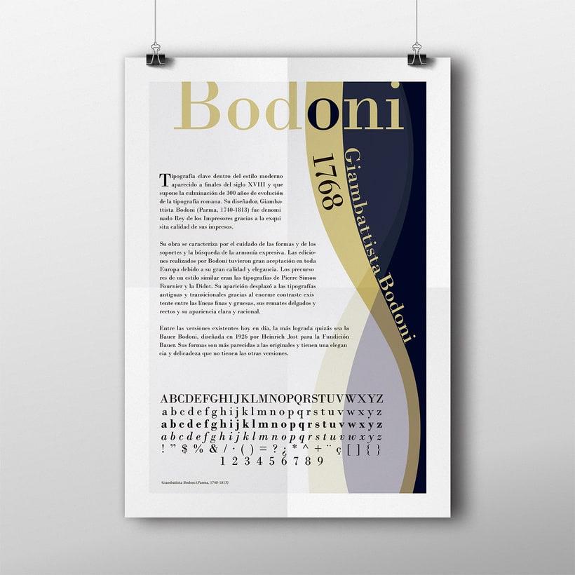 Cartel tipográfico Bodoni 0