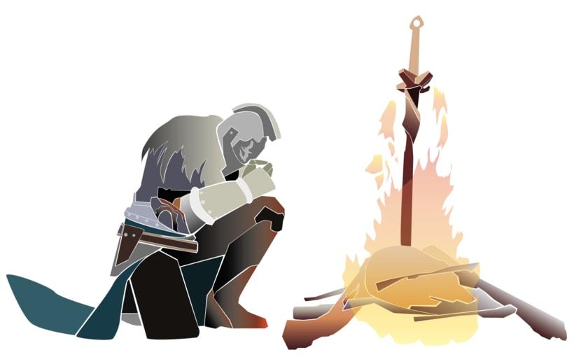 """Ilustración """"Dark Souls II"""" 1"""