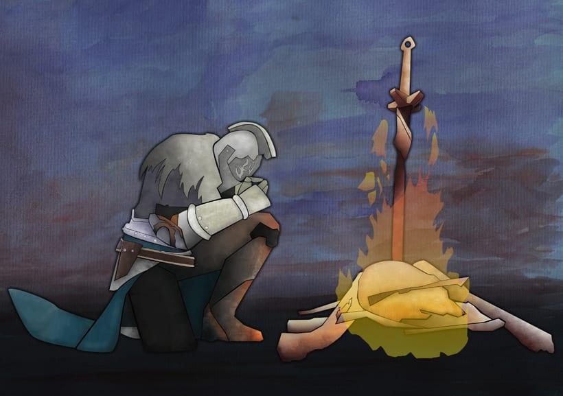 """Ilustración """"Dark Souls II"""" 3"""