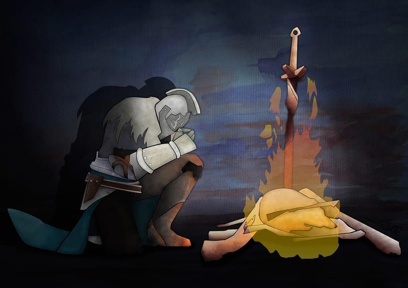 """Ilustración """"Dark Souls II"""" 0"""
