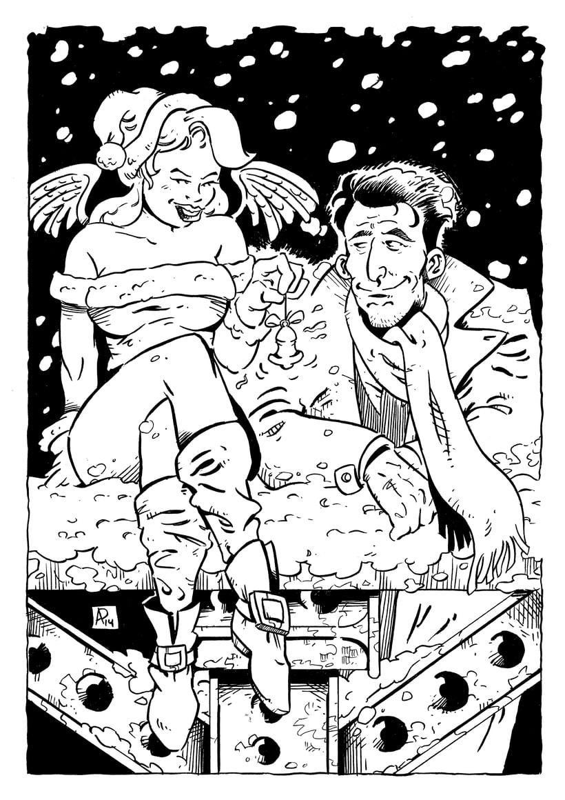 """Ilustración para """"Taller de cine: Blanca Navidad"""" Biblioteca pública de Badajoz 0"""