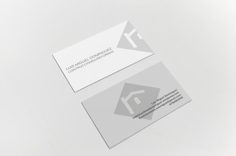 Identidad Corporativa Construcciones y Reformas Luis Miguel Domínguez 2