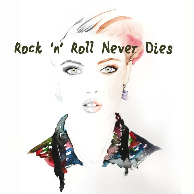 Rock ´n´Roll Never Dies (Aquarelle) -1