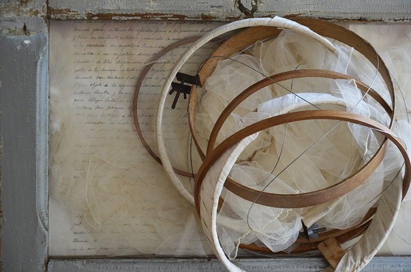 """""""Aliento de significado """". Montaje Escultura Collage Arte. Poesía visual. Material antigüo. Técnica Upcycling. 1"""