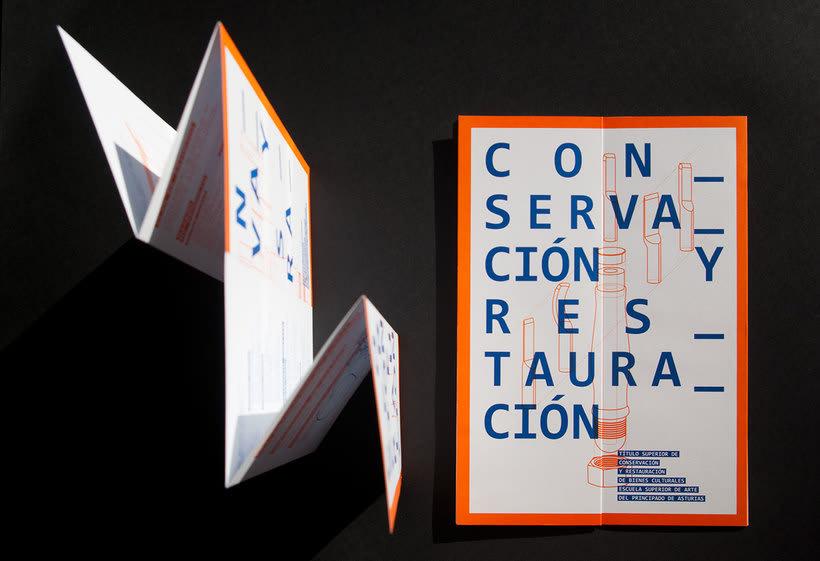Diseño conjunto con Javi Nistal de folletos para la Escuela Superior de Arte del Principado de Asturias 1