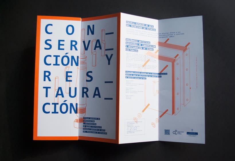 Diseño conjunto con Javi Nistal de folletos para la Escuela Superior de Arte del Principado de Asturias 2