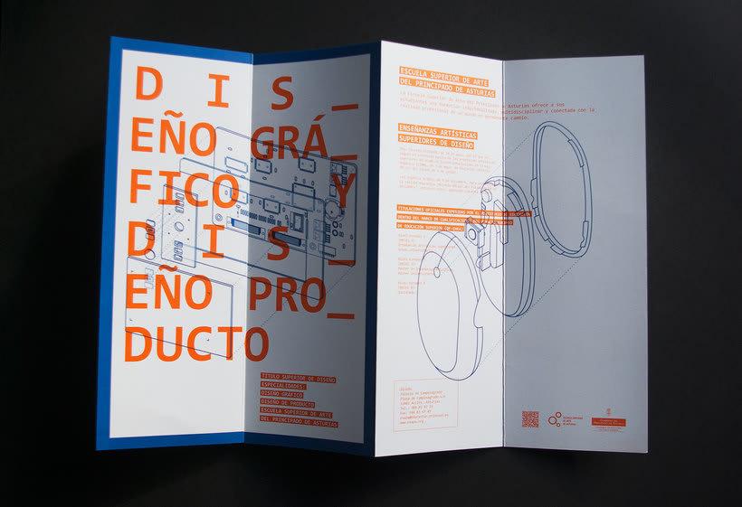Diseño conjunto con Javi Nistal de folletos para la Escuela Superior de Arte del Principado de Asturias 3