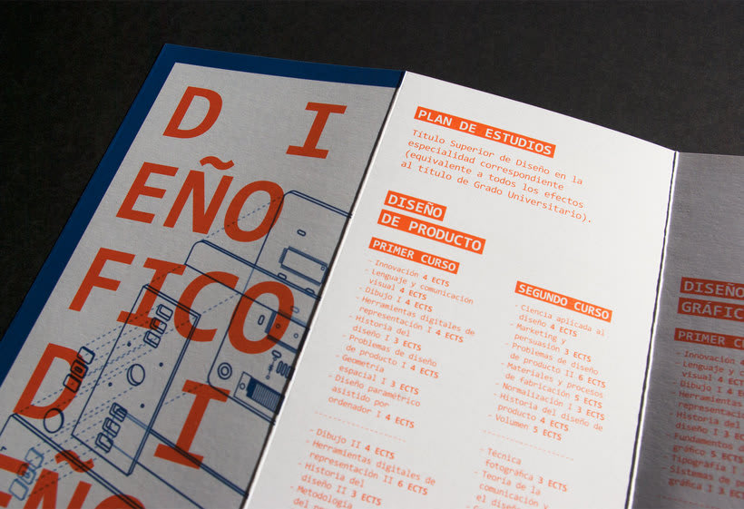 Diseño conjunto con Javi Nistal de folletos para la Escuela Superior de Arte del Principado de Asturias 4