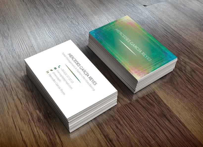 Mercedes García: diseño de tarjeta de visita -1