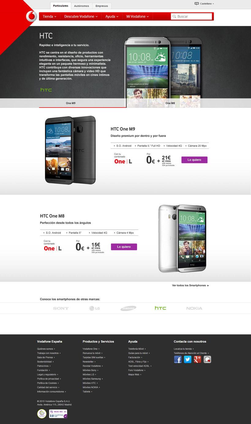 Landings de marca para Vodafone 2