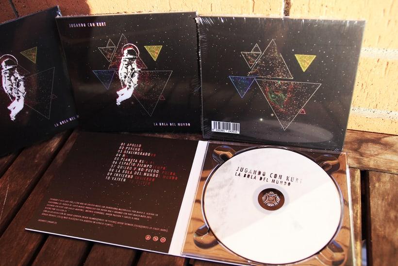 Portada LP Jugando con Kurt - La Bola del Mundo 6