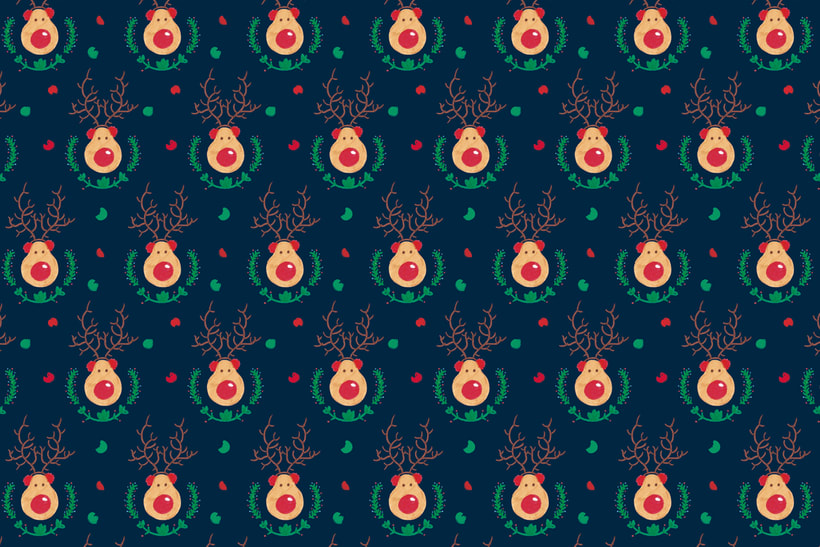 Reindeer Christmas | Pattern Design 1