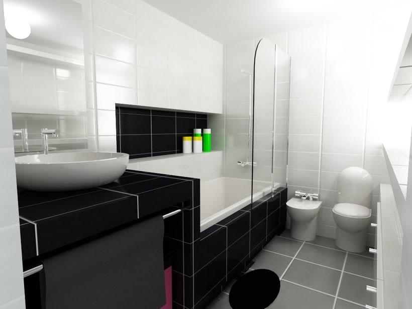 Dise o interiores ba o domestika - Software para diseno de interiores ...