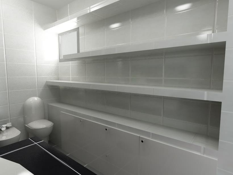 Diseño interiores, baño 1