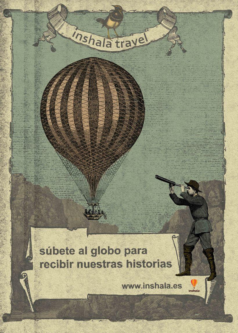 Mi Proyecto del curso Cartelismo ilustrado. Poster para blog de Viajes -1
