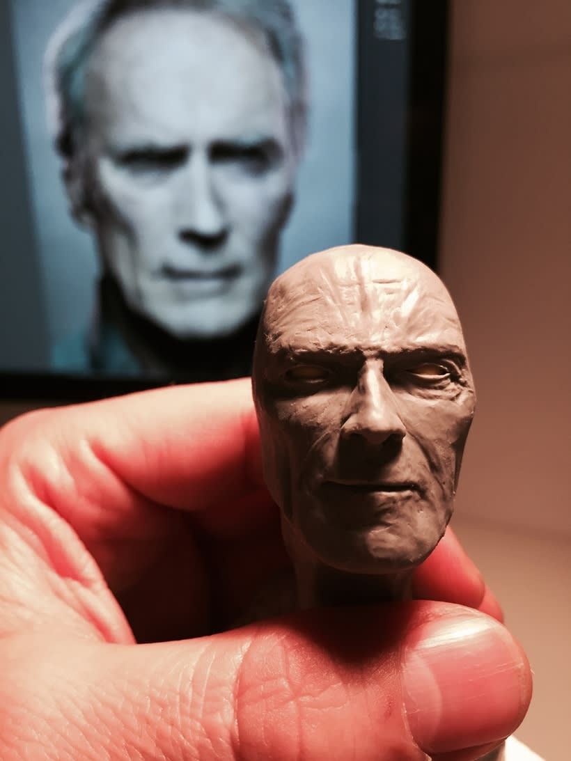 Busto miniatura 1/6 de Clint Eastwood 9