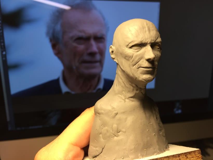Busto miniatura 1/6 de Clint Eastwood 11