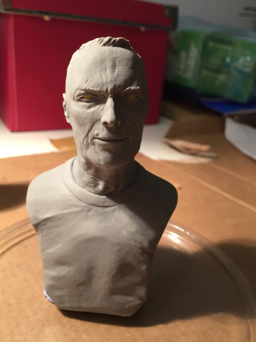 Busto miniatura 1/6 de Clint Eastwood 15