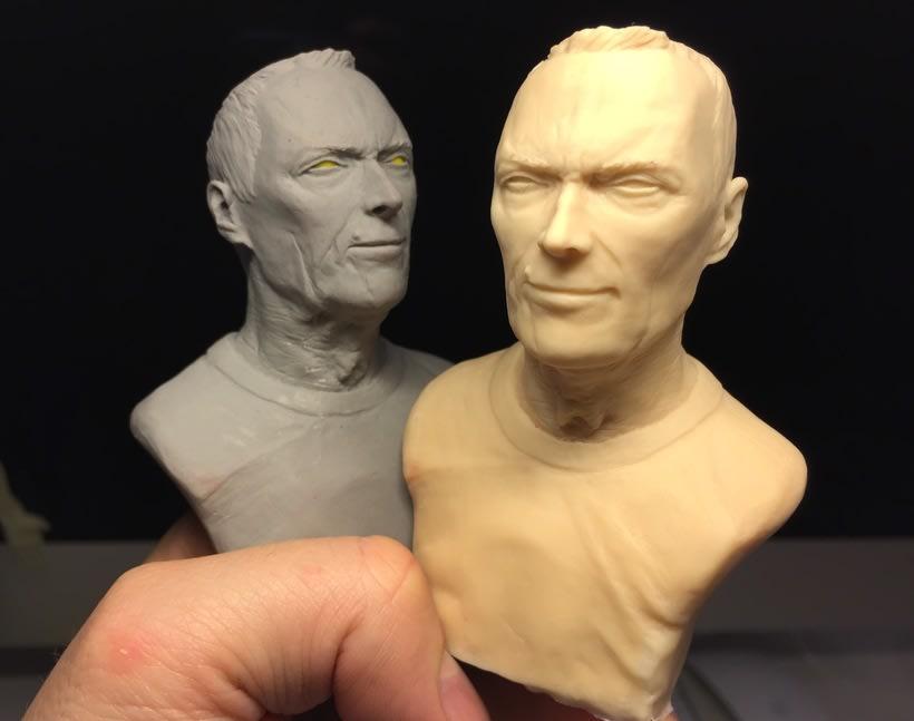 Busto miniatura 1/6 de Clint Eastwood 16