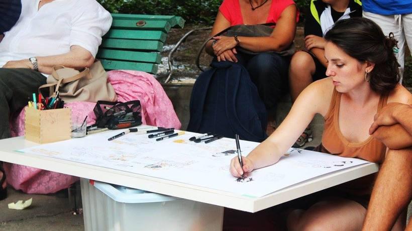 """Live drawing """"Els feminismes que ens fan felices"""" 1"""