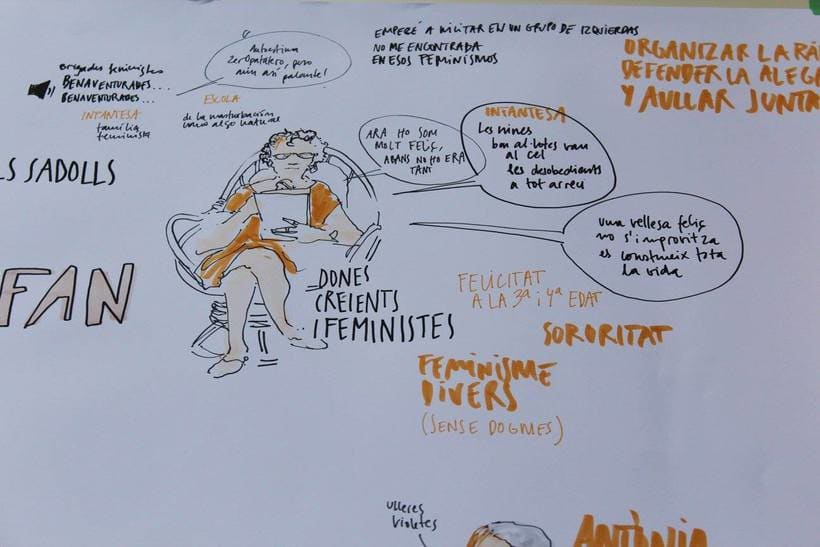 """Live drawing """"Els feminismes que ens fan felices"""" 7"""