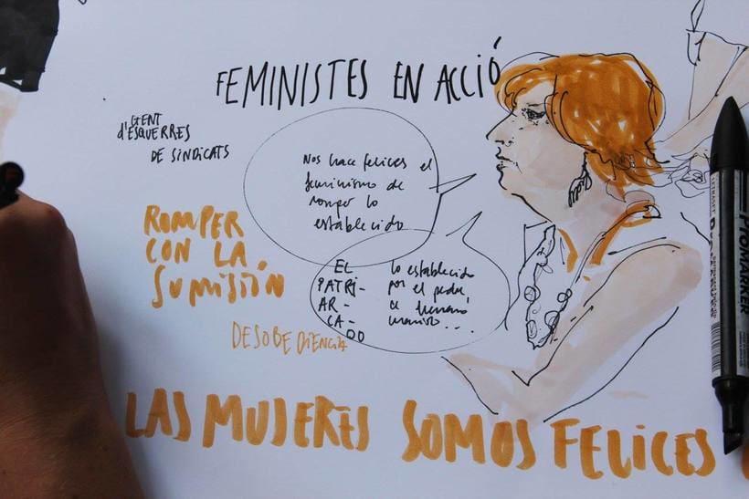 """Live drawing """"Els feminismes que ens fan felices"""" 5"""