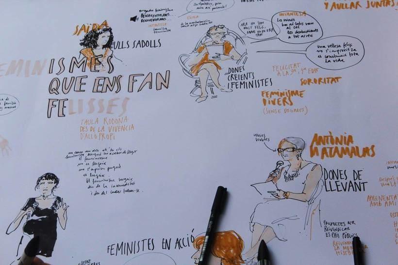 """Live drawing """"Els feminismes que ens fan felices"""" 8"""