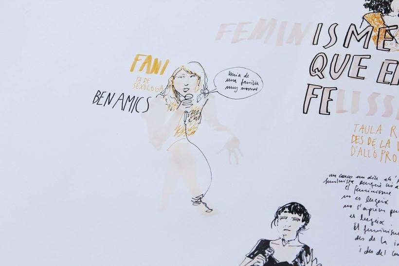 """Live drawing """"Els feminismes que ens fan felices"""" 9"""