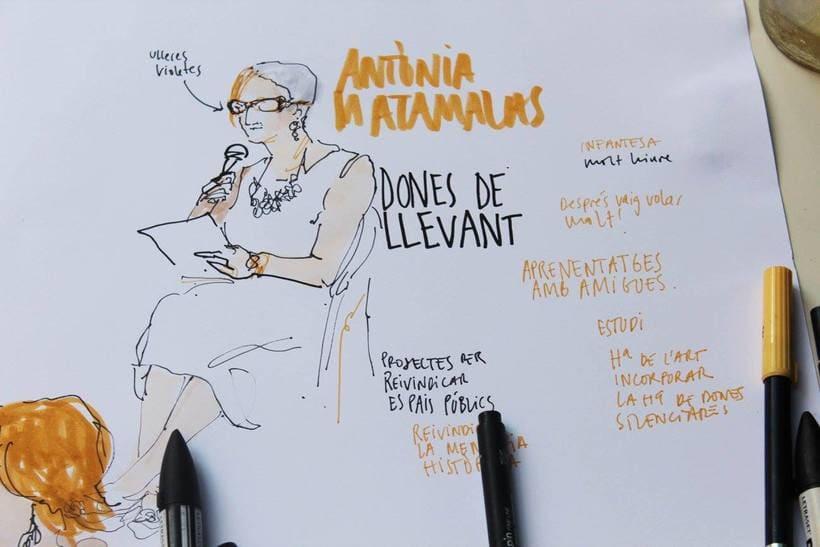 """Live drawing """"Els feminismes que ens fan felices"""" 10"""
