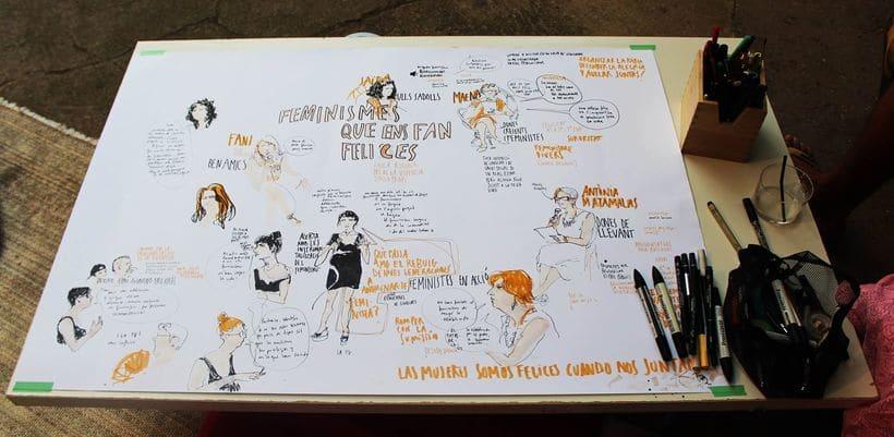 """Live drawing """"Els feminismes que ens fan felices"""" 11"""