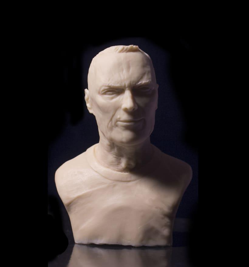 Busto miniatura 1/6 de Clint Eastwood 2