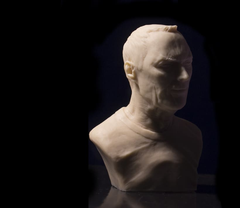 Busto miniatura 1/6 de Clint Eastwood 4