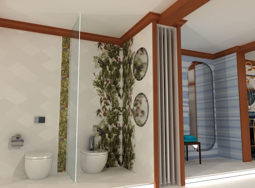 Proyecto Showroom. Modelado 3d e iluminación. 1