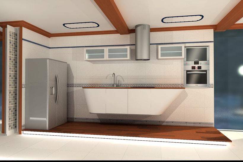 Proyecto Showroom. Modelado 3d e iluminación. 2