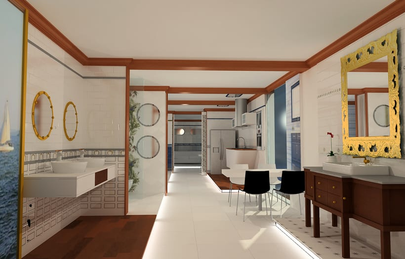 Proyecto Showroom. Modelado 3d e iluminación. 0
