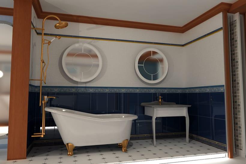 Proyecto Showroom. Modelado 3d e iluminación. 5