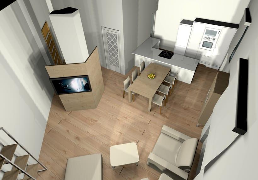 Proyecto Vivienda. Modelado 3d e iluminación. 1