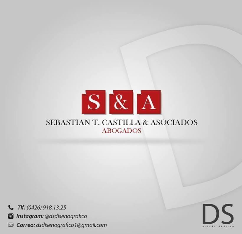 "Logotipo: ""Sebastian T.  -1"